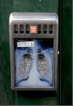 Anti smoking ads - public ashtray ad