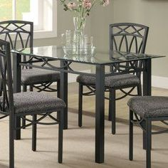 Coaster Fine Furniture Black Rectangular Dining Table , ok i think is the set for the dinning area..