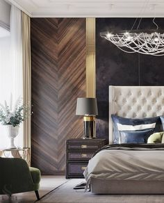 Discover unique nightstands for your bedroom interior. Modern Luxury Bedroom, Luxury Bedroom Furniture, Luxury Bedroom Design, Master Bedroom Design, Luxurious Bedrooms, Luxury Interior, Home Bedroom, Furniture Design, Bedroom Decor