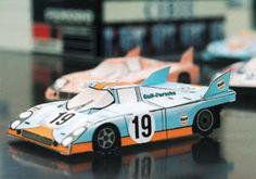 Tektonten Papercraft - Free Papercraft, Paper Models and Paper Toys: Papercraft Porsche 917 Race Cars Race Car Themes, Race Cars, Winter Wonderland Centerpieces, Slot Cars, Paper Models, Paper Toys, Porsche, Household, Racing