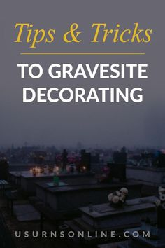 Check out this guide to learn tips to decorating your loved one's gravesite as well gorgeous ideas! #decoratinggraves Dealing With Grief, Grave Decorations, Grief Loss, Memories, Learning, Tips, Decorating, Check, Ideas