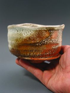 Wood Fired Chawan iron rich stoneware with by GREENWOODSTUDIO, $175.00