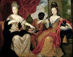 1690s Philippe Vignon (1638-1701)Francoise-Marie de Bourbon, Duchesse d'Orléans, 2nde Mademoiselle de Blois (1677-1749) and Sister