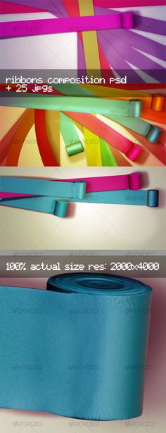 Stylish Ribbons Editable Composition $4.00