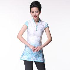 Attractive Open Neck Modern Cheongsam Style Shirt - Chinese Shirts & Blouses - Women