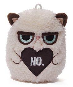 Look at this #zulilyfind! Grumpy Cat 'No' Heart Mini Plush by Grumpy Cat #zulilyfinds http://www.zulily.com/invite/kcrim608