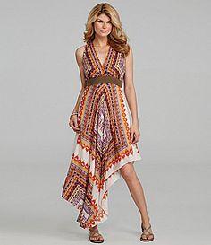 Antonio Melani Lourdes Handkerchief-Print Dress | Dillards.com