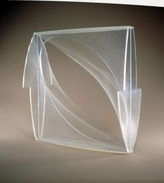 Nasher Sculpture Center - Object  Naum Gabo  American, born Russia, 1890-1977  Linear Construction in Space No. 1 (Variation), 1942-43 (enlargement ca. 1957-58) Plexiglas with nylon monofilament, 24 3/4 x 24 3/4 x 9 1/2 in. (62.9 x 62.9 x 24.1 cm.)  Raymond and Patsy Nasher Collection, Dallas, Texas  1985.A.12