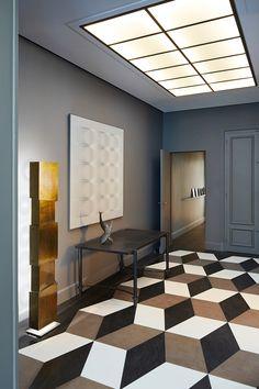 Свежий интерьер квартиры в Париже