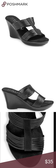 NWOT Italian Shoemakers Belray Black Wedges Sz 6.5 NWOT women's Italian Shoemakers black strappy wedges in sz 6.5. This is a VERY comfortable wedge!!  I do not have the original box, sorry! Italian Shoemakers Shoes Wedges