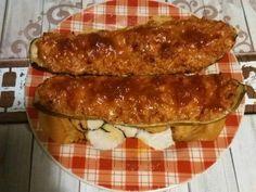 Bébi cukkini darált hússal és kölessel töltve Mango Avocado Salsa, Snacks, Zucchini, Sausage, Vegetables, Food, Stop Eating, Potato Latkes, Whole Food Diet
