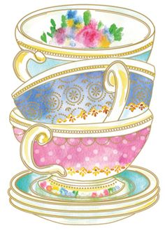 Teacup with Pink Coral Floral   ~ Tea Time ~   Pinterest   Pink ...