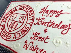 Another great cake for Cornell University's 150th anniversary posted on Instagram by Wang_Stacey
