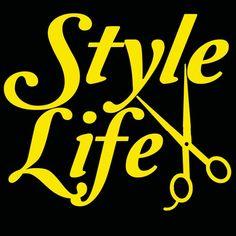 Style Life Vinyl Decal- Hair Stylist, Scissors Cosmetology, Beauty | LilBitOLove - Housewares on ArtFire