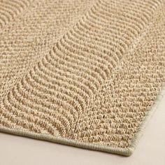 bleached jacquard woven sisal area rug