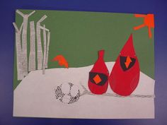Mrs. Knight's Smartest Artists: Cardinal Collage: Charley Harper style