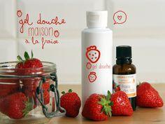 Gel douche maison- Gel douche à la fraise