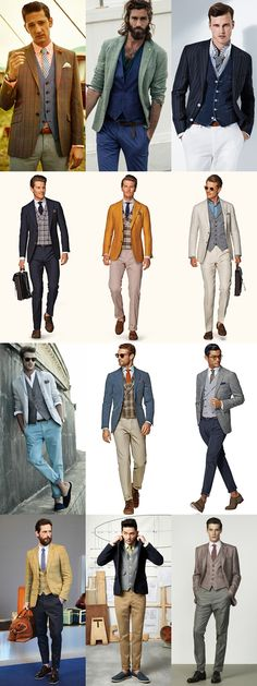 Men's Waistcoat Layering - Formal and Smart-Casual Outfit Inspiration Lookbook #casual #formal #dressy #fall #summer