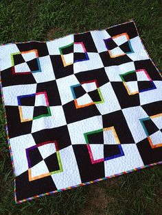 Mad as a Hatter Modern Quilt Tutorial - messygoat
