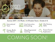 """We are preparing for the big launch!  For several months we were developing the idea of an online program on Project-Based Learning - research-proven """"the best way to learn"""". We are proud to announce that we are ready to launch it this summer - Nobel Explorers! Exciting projects, real teamwork experience, international team - all delivered virtually, in the convenience of your own home. Stay tuned for more updates! #coaching #tutoring #learning #pbl #projectbasedlearning #summer #onlinecamp"""