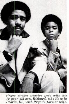 Rare image of Richard Pryor and his son Sexy Celebrities. Afro, My Black Is Beautiful, Black Love, Black Men, Black Celebrities, Celebs, Black Actors, Richard Pryor, African American Culture