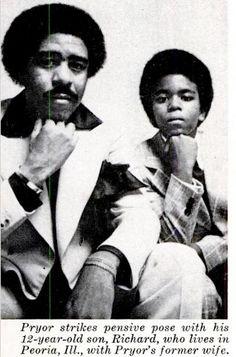 Rare image of Richard Pryor and his son