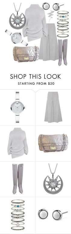 """Eye in the Sky"" by cindiawb ❤ liked on Polyvore featuring Movado, Theory, STELLA McCARTNEY, Chanel, Carolina Glamour Collection, Accessorize and NYX"