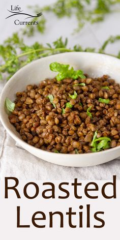 Easy to make Crispy Roasted Lentils are a delicious smokey flavored snack, salad or soup topper, healthy addition to any meal! And I have oven roasted and air fryer roasting instructions. Healthy Snacks, Healthy Eating, Healthy Recipes, Roasted Lentils, Oven Roast, Weeknight Meals, Whole Food Recipes, Main Dishes, Vegetarian