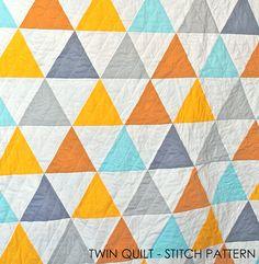 Reunion Triangle Quilt | Tamarack Schack | Sixty Degree Triangle ... : how to sew a triangle quilt - Adamdwight.com