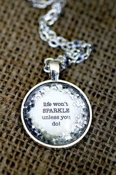 Glitter Quote Life Won't Sparkle Unless You Do by KitschyKooDesign
