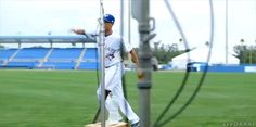Ryan Goins doin' his best Jason Grilli impression. (Source: Sportsnet - Plays of the Month) Follow   Support