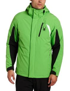 Spyder Men's Sentinel Jacket, Classic Green/Black/White, X-Large ** Learn more by visiting the image link.