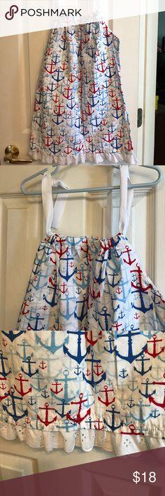Girls summer pillowcase dress NWOT. Locally made girls pillowcase dress.  New! Never worn.   Darling anchor print.  Size 8. Dresses
