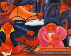 *Patrick DesJarlait, Sr.* (1921–1972) was an Ojibwa artist, known for his watercolor paintings and his commercial art work.