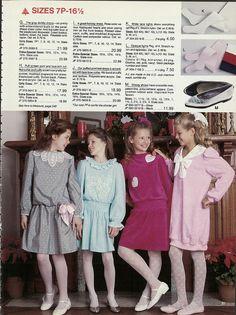 1987 girl s christmas dresses jc penney christmas catalog via