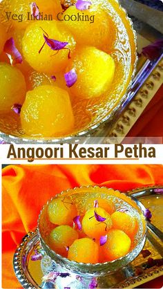 Angoori Kesar Petha  (Saffron Flavored Translucent Soft Candy Made From Ash Gourd)    Angoori Kesar Petha is a very famous Indian dessert.   This is a variation of the famous Indian Sweet - Agra Ka Petha.   #petha #agrapetha #Angooripetha #indianrecipes #indiancuisine #foodblogger #vegetarian #valentine #valentinespecial #indiansweets #sweets #sweetsrecipes