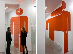 wayfinding - Google Search Environmental Graphic Design, Environmental Graphics, Wayfinding Signs, Toilet Signage, Illusion, Floor Graphics, Retail Signage, Sign System, Graphic Projects