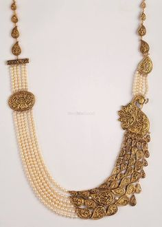 Photo of Jewellery - Bespoke Vintage Jewels - By Shweta & Nitesh Gupta via WedMeGood Real Gold Jewelry, Gold Jewellery Design, Pearl Jewelry, Jewelery, Bead Jewellery, Handmade Jewellery, Indian Wedding Jewelry, Indian Jewelry, Bridal Jewelry