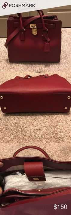 Never been used Red Leather Michael Kors Bag Red leather, never been used, no scratches or anything KORS Michael Kors Bags Shoulder Bags