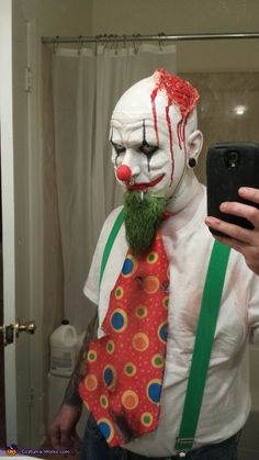 Courtney: My boyfriend and I decided to be evil killer clowns! The makeup took about 3 hours! We used prosthetics on our face to reshape them!. Photo 2 of 5.