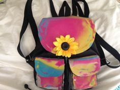 Rainbow Holographic Mini Backpack  90s Style by CruelSummerVintage