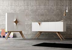 Slap furniture by Nicola Conti, via Behance