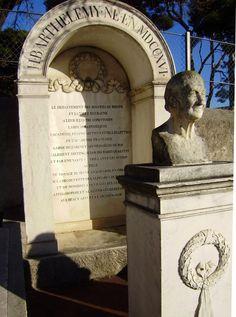 Barthélemy, Jean-Jacques funerary monument in the cemetery of Aubagne Rhone, Cemetery, Past, Portraits, Statue, Past Tense, Head Shots, Portrait Photography, Sculptures