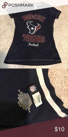Houston Texans Women's Top In great condition, a Houston Texans women's navy glittery top. Go Texans! Tops Tees - Short Sleeve