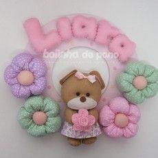 Enfeite Porta Maternidade Ursa Colorida