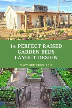 14 Perfect Raised Garden Beds Layout Design - HomyBuzz