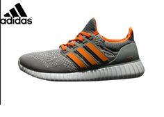 super cute ffe13 b99cc Mens Adidas Ultra Boost X Yeezy Boost Running Shoes GreyOrange,Adidas- Ultra
