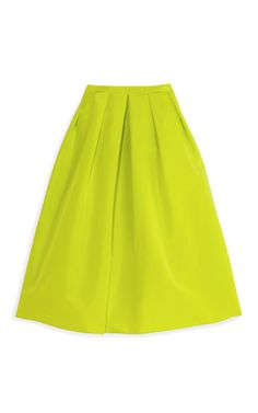 kelp silk faille full skirt by tibi