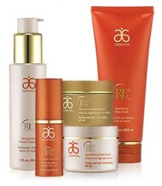 I love Arbonne's pure, safe, botanical skincare, makeup & nutrition. This is the RE9 range which is their flagship anti-aging skincare range for older skin. Plumps, firms, nourishes, mosturises - and no animal products, no parabens, no artificial colours or fragrances, just the best botanical ingredients mixed with cutting edge science. More info on the blog, as well as at www.bitly.com/ArbonneLondon