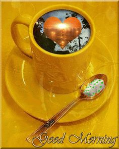 Good Morning Coffee Gif, Cute Good Morning Images, Cute Good Night, Good Morning My Love, Good Morning Flowers, Morning Pictures, Happy Weekend Quotes, Good Day Quotes, Good Morning Quotes